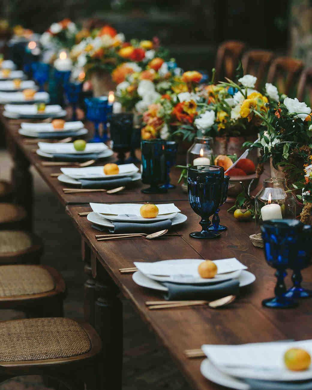 sarah daniel wedding reception long table