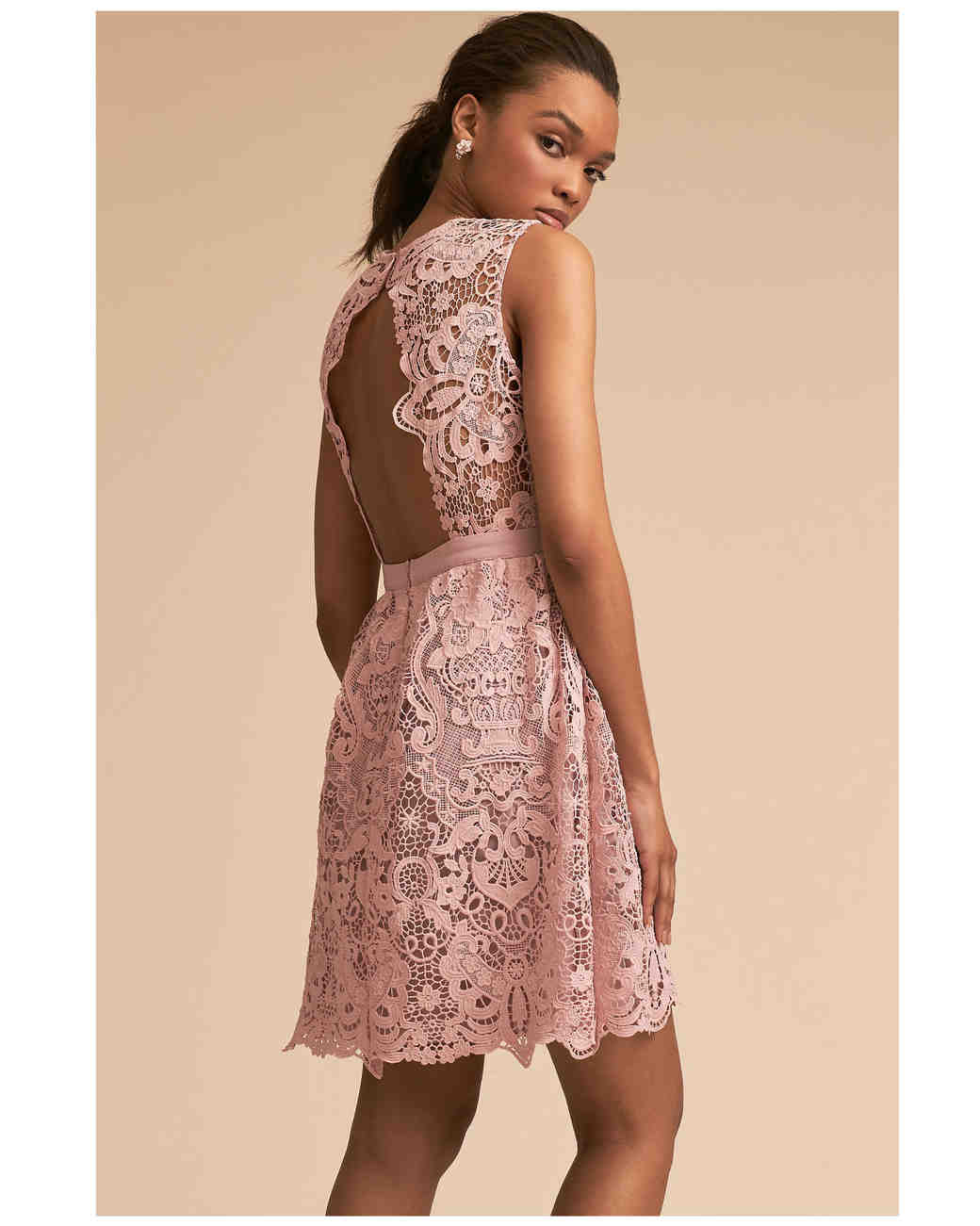 short bridesmaid dresses bhldn lace