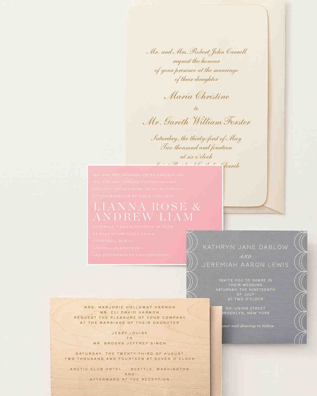 34 unexpected winter wedding invitations martha stewart weddings