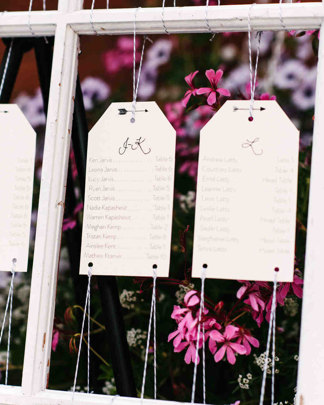steph tim wedding escort cards
