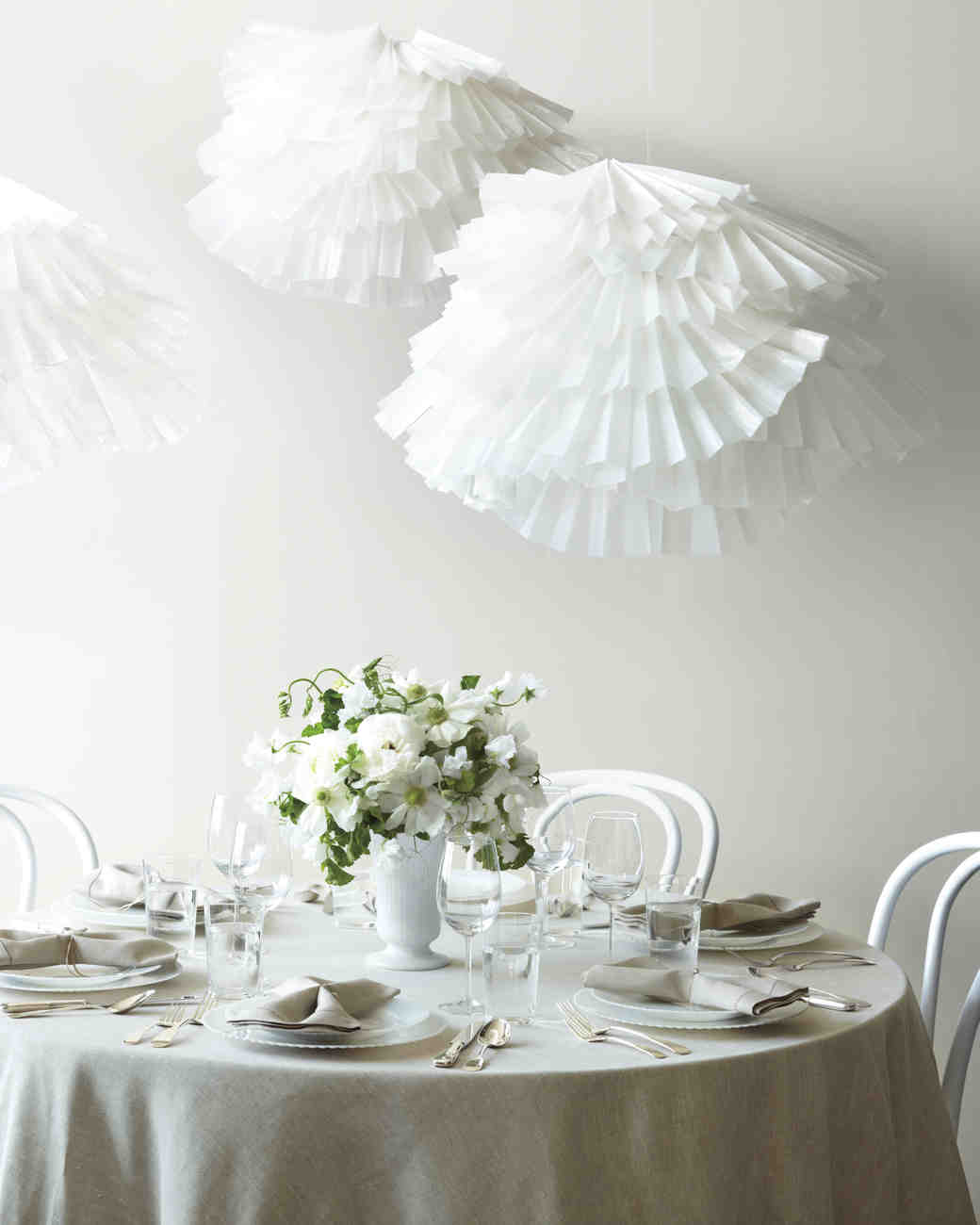 Easy-to-Make Paper Decorations For Your Wedding & 18 Creative Ways to Set Your Reception Tables | Martha Stewart Weddings