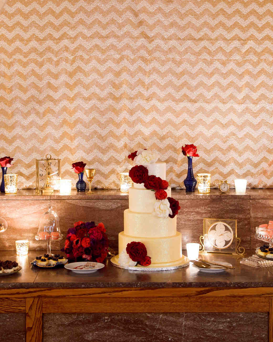 Red Dessert Table For Weddings: 11 Of The Most Decadent Desserts For A Winter Wedding