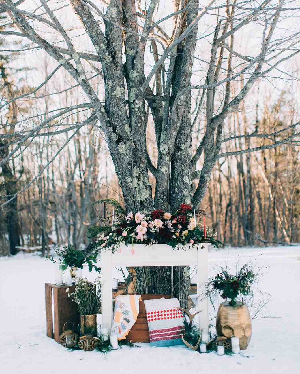 snowy winter display