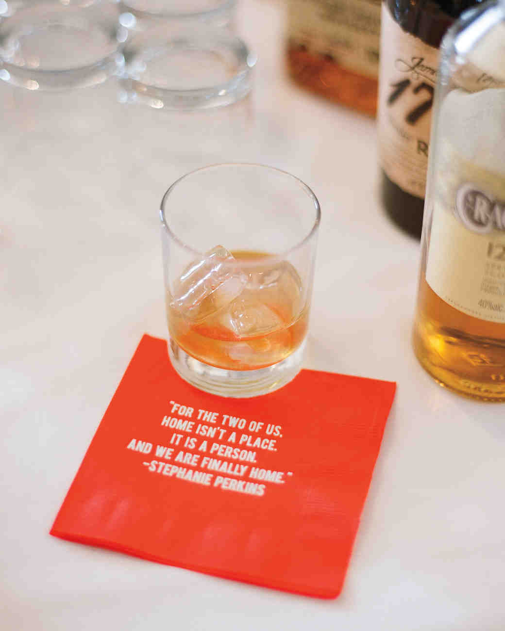 quote wedding cocktail napkin