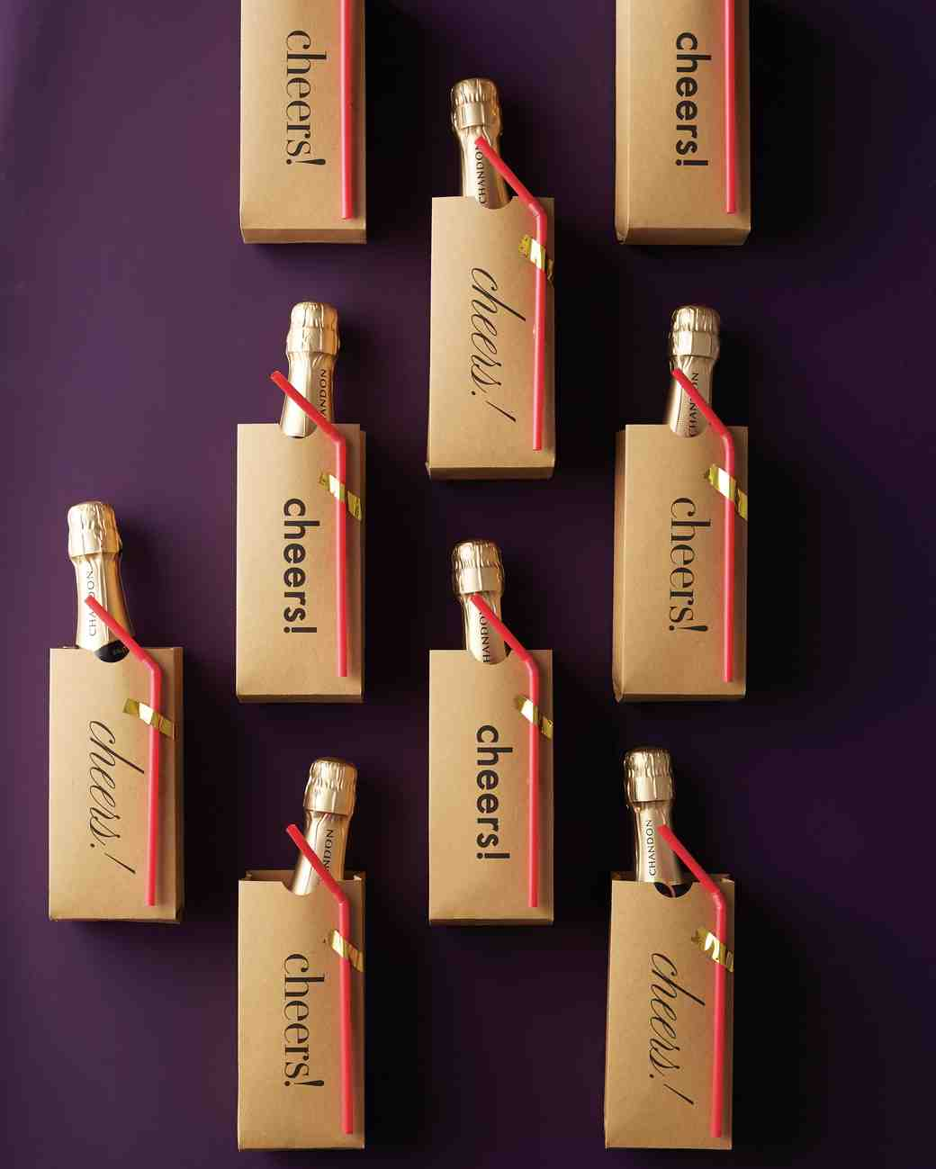 DIY Sparkling Wine Favors