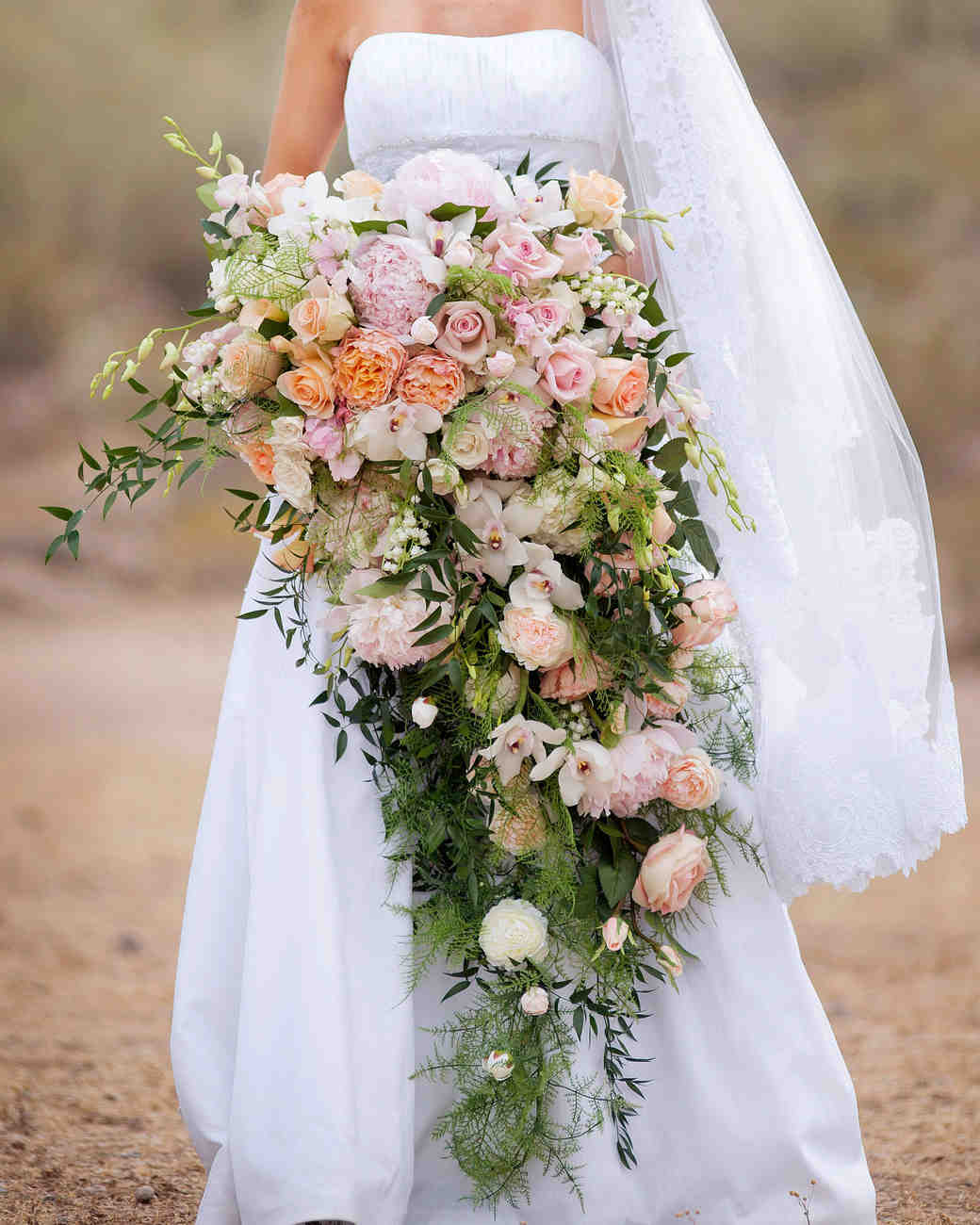 32 Chic Cascading Wedding Bouquets Martha Stewart Weddings