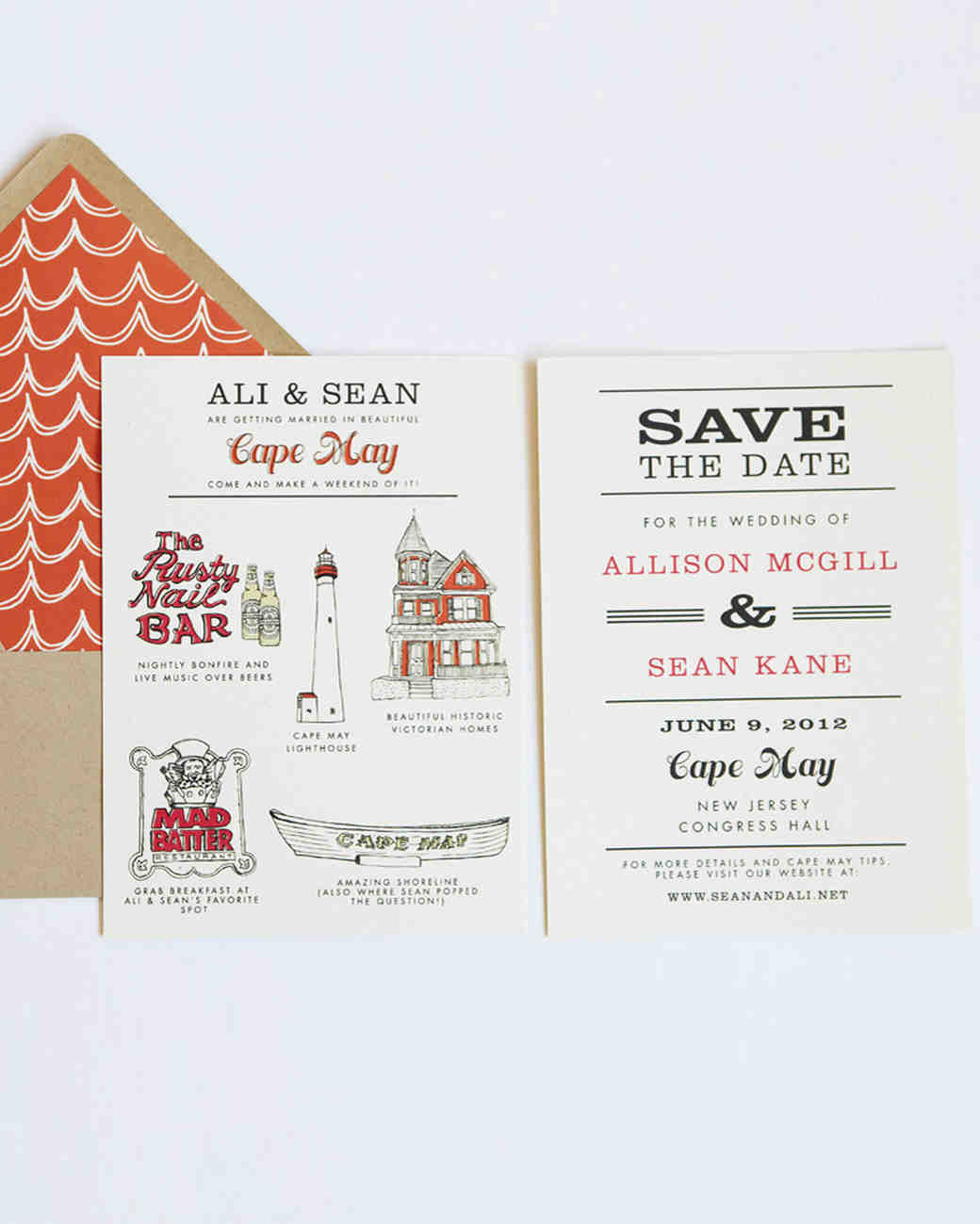32 Destination Wedding Save-the-Dates | Martha Stewart Weddings