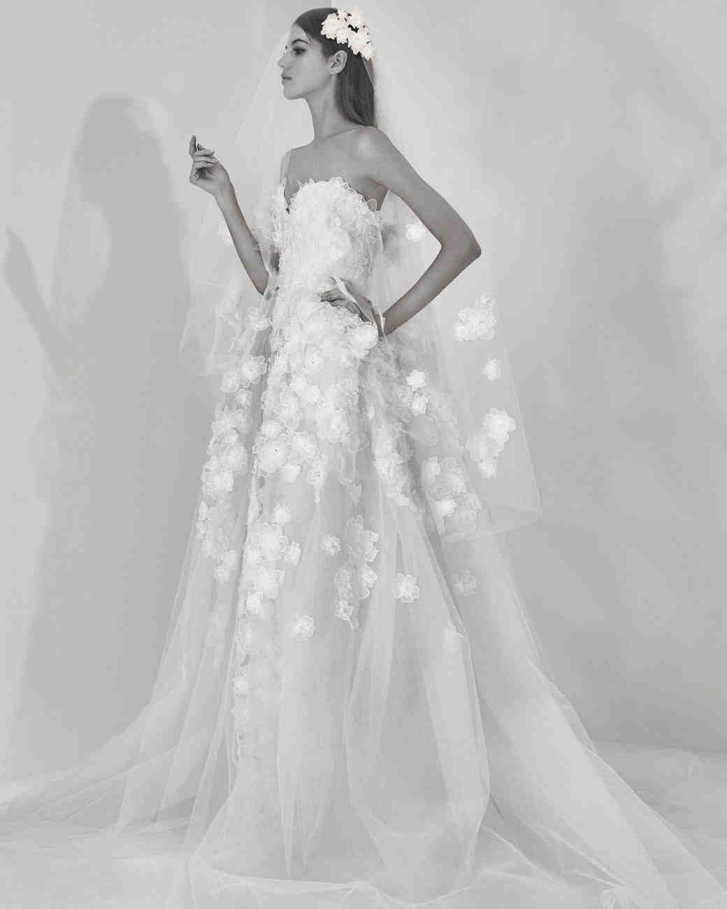 Elie Saab Fall 2017 Wedding Dress Collection | Martha Stewart Weddings