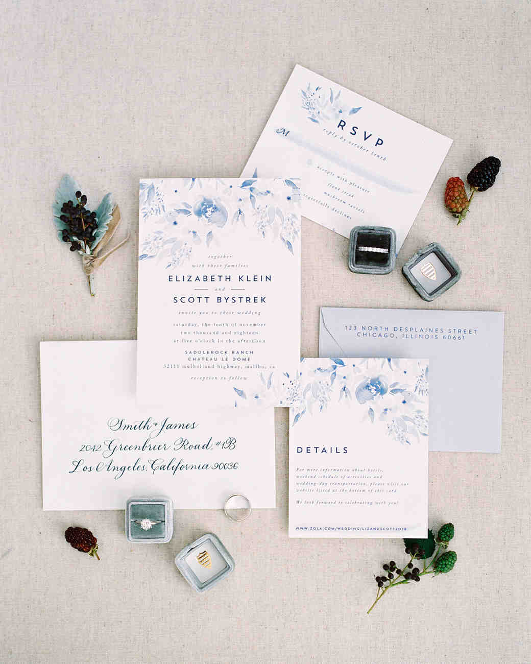 elizabeth scott wedding invites