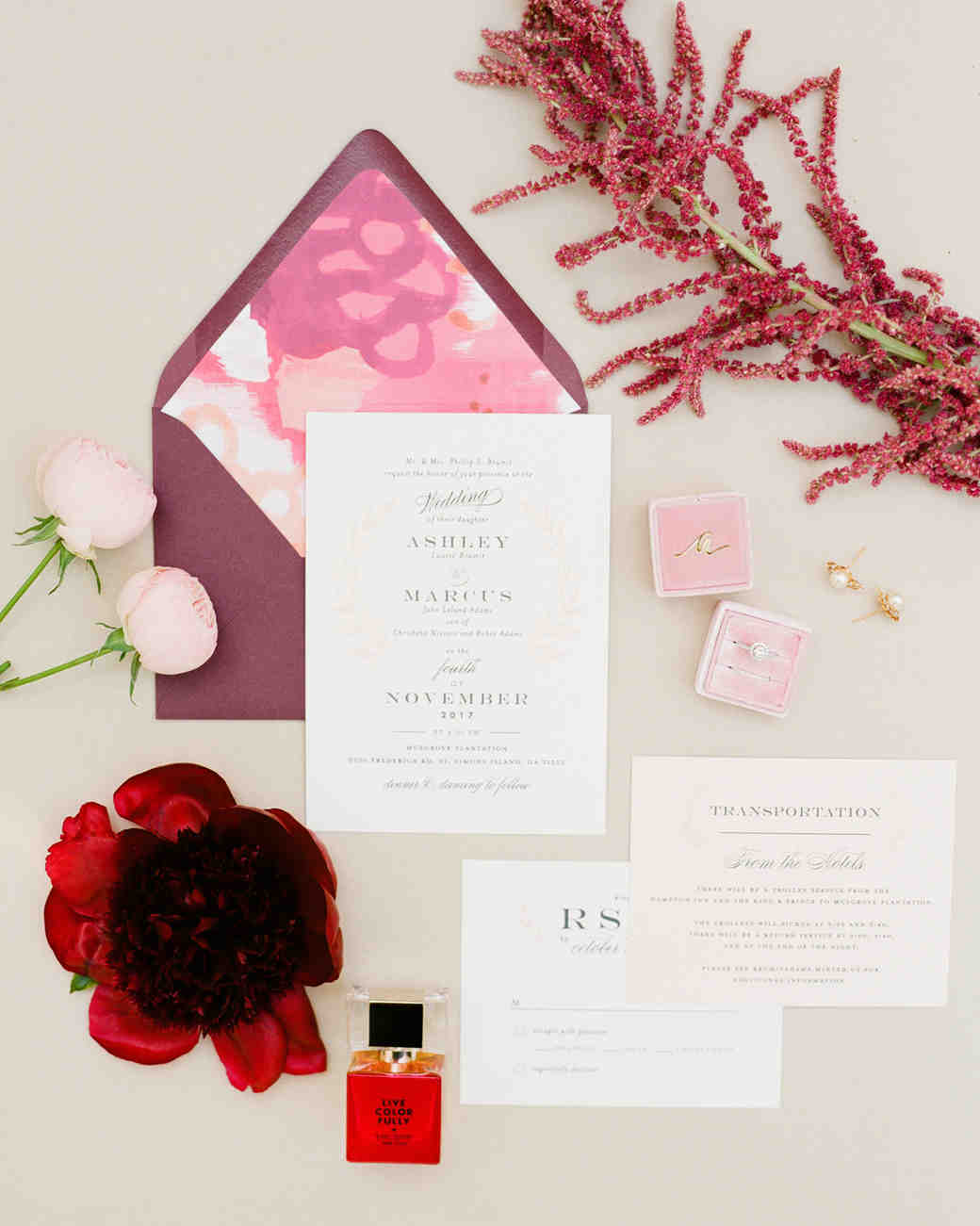 envelope invites the happy bloom