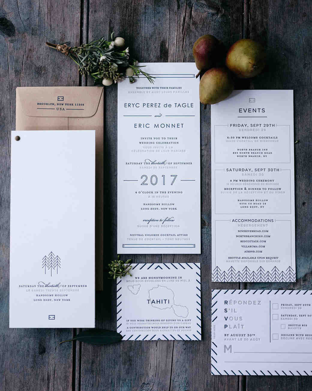 eric eryc wedding invitation