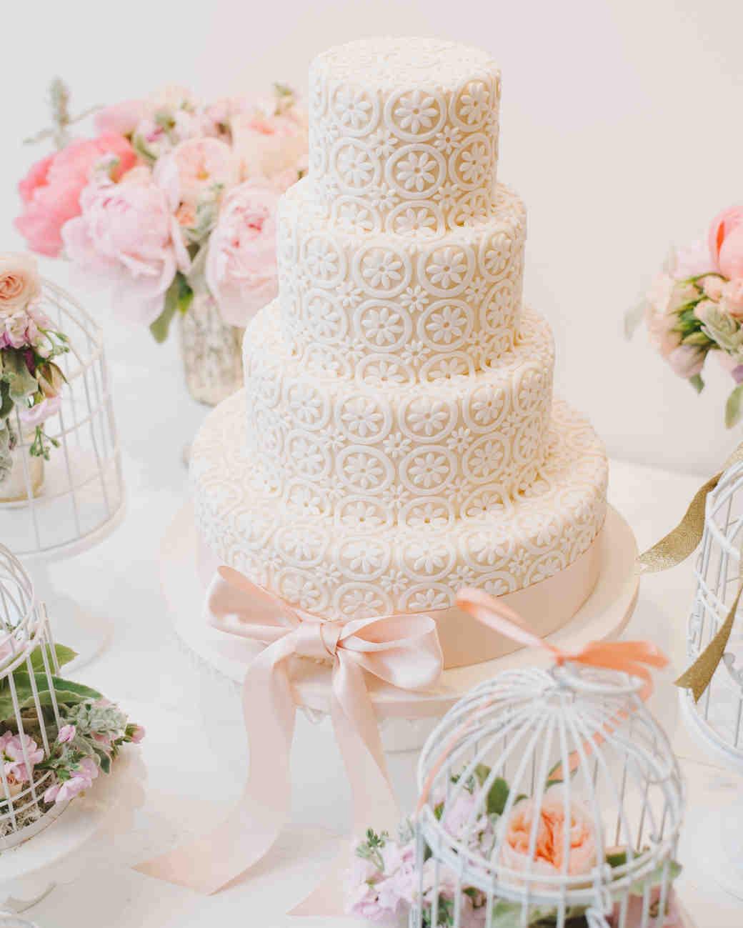 eyelet lace cake