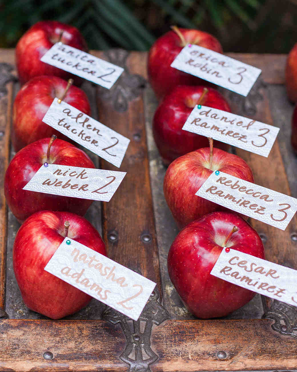 Apple Escort Cards, Fall Wedding Ideas