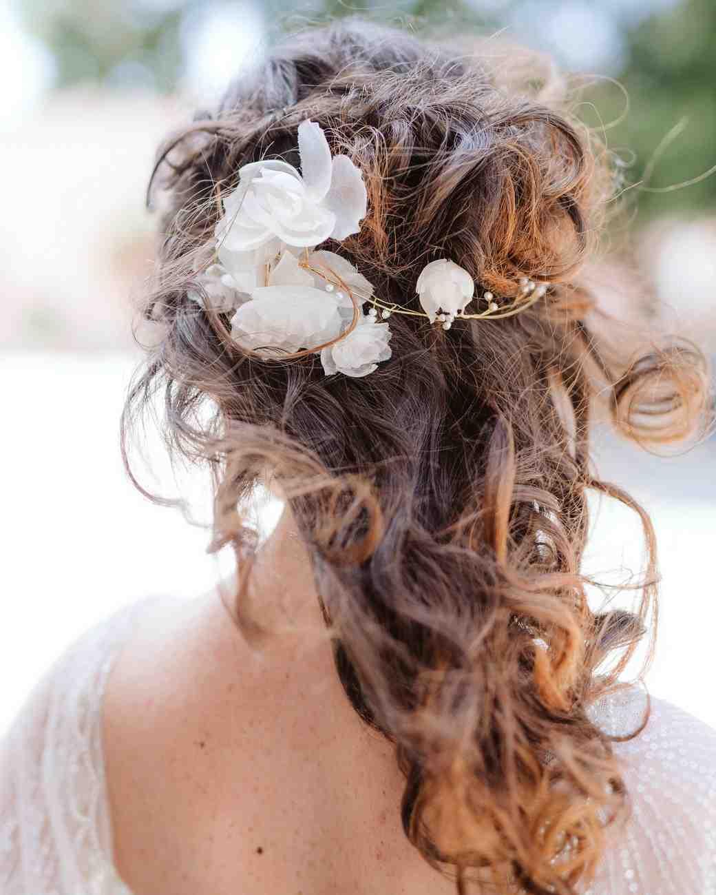 20 Wedding Hairstyles With Flowers Martha Stewart Weddings