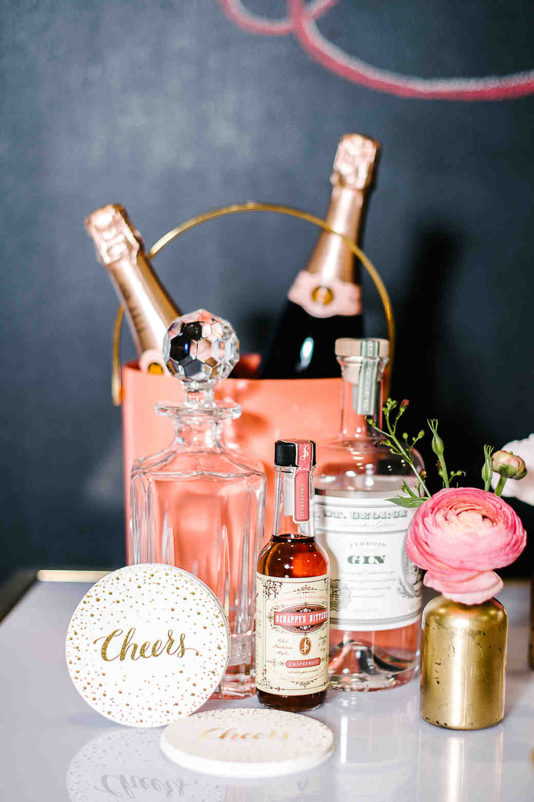 Build Your Own Cocktail Bar Options for a Bridal Shower