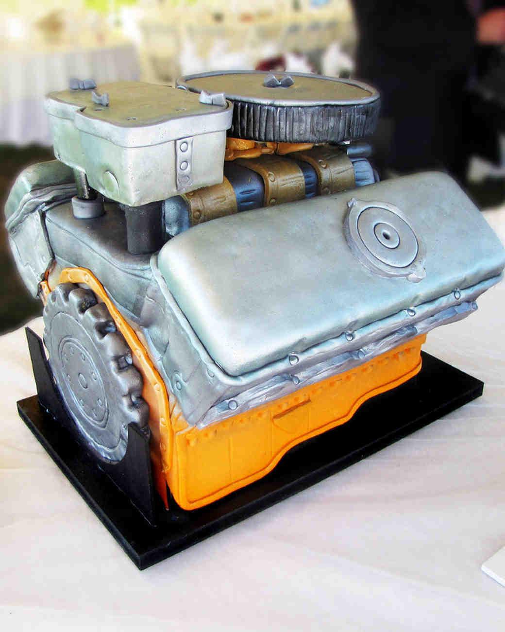 engine grooms cake