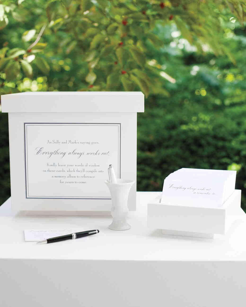 ballot box wedding guest book