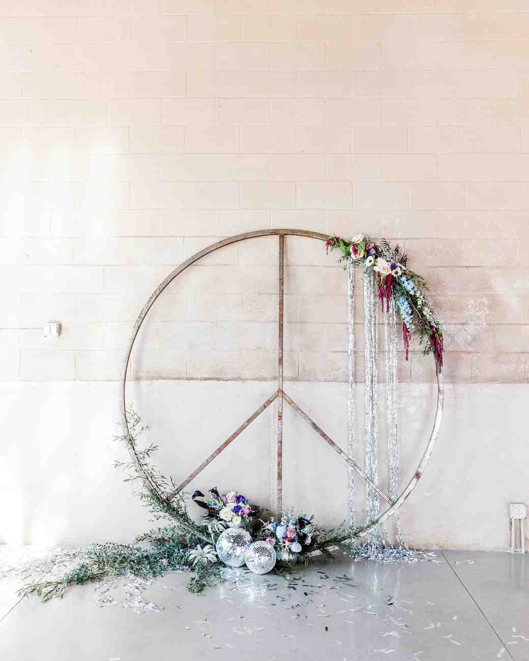 peace sign decorative hoop