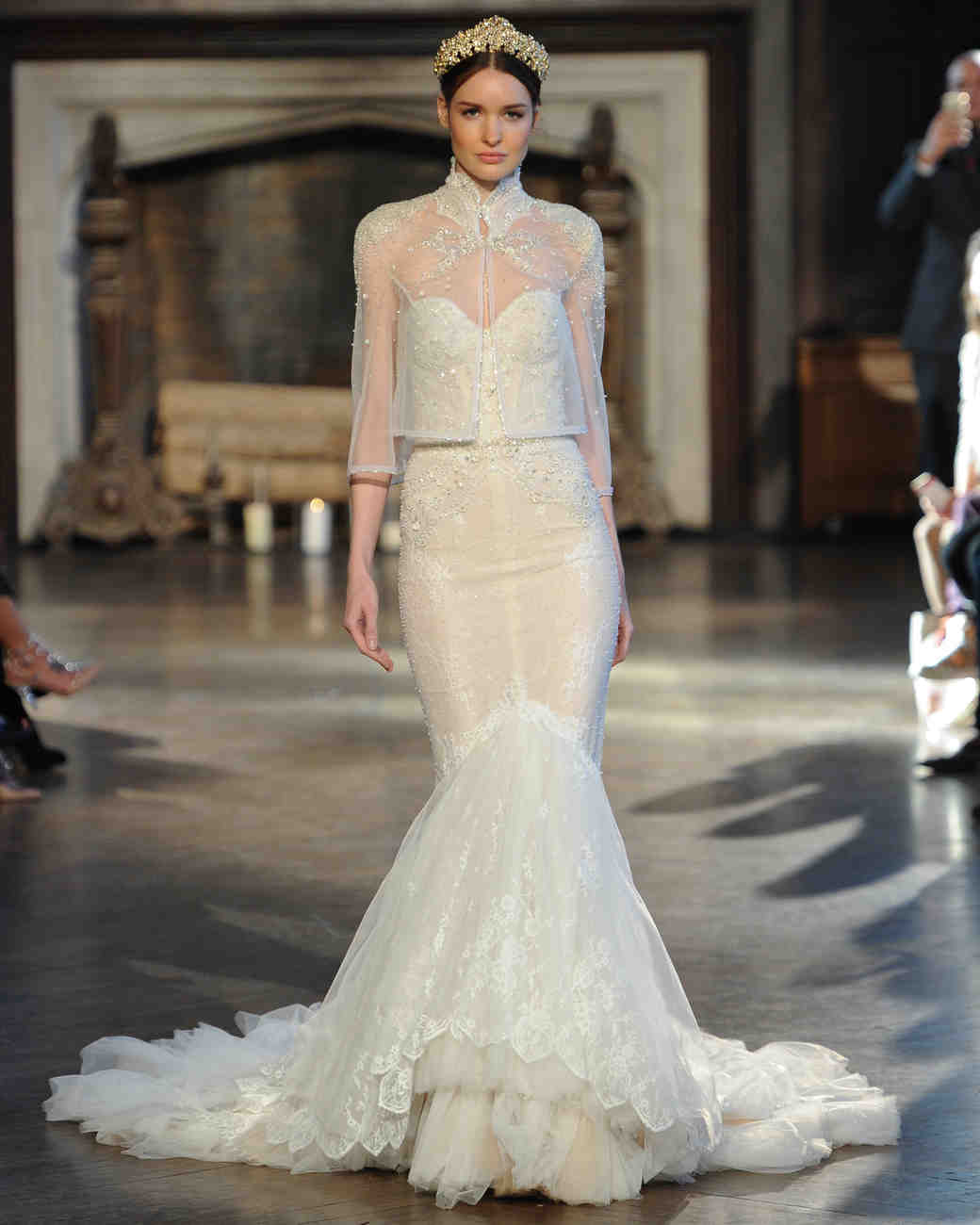Inbal Dror Fall 2015 Bridal Show | Martha Stewart Weddings