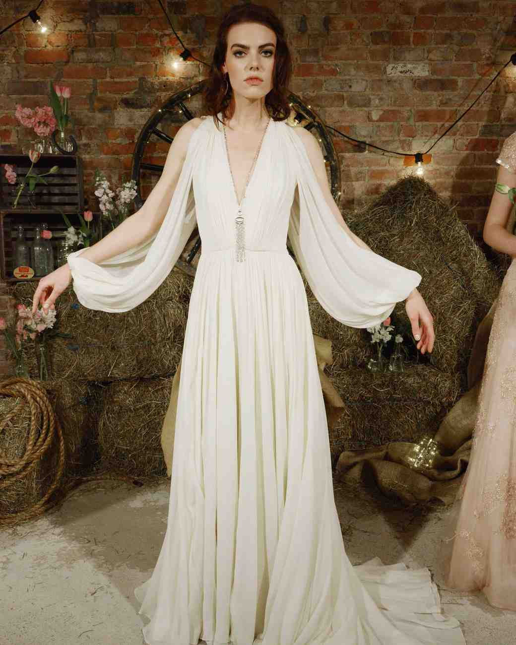 Jenny Packham Simple Boho Wedding Dress