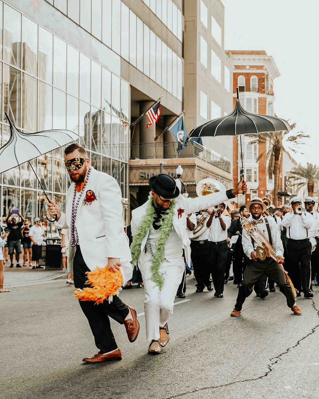 joe tim new orleans wedding second line