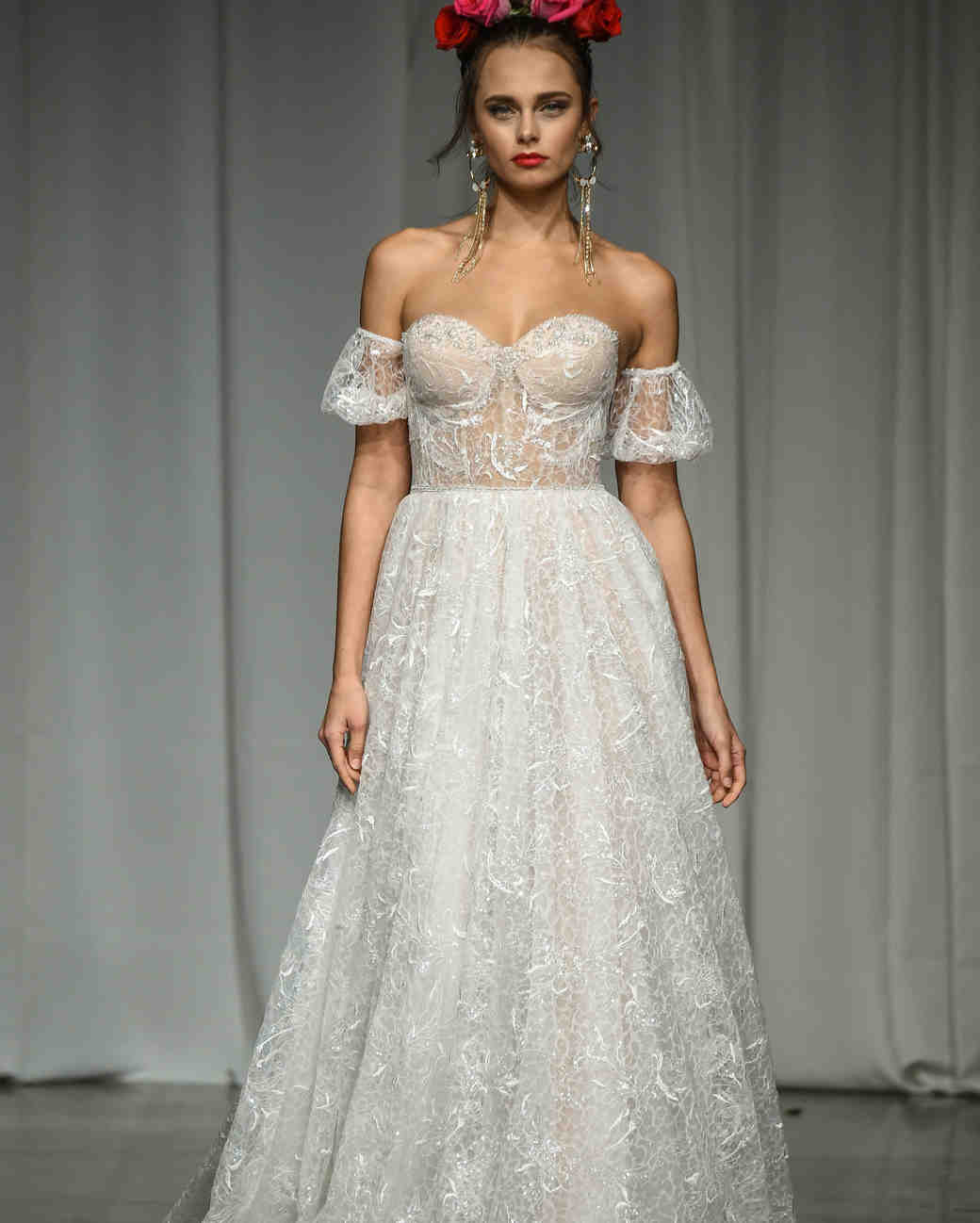 julie vino group fall 2019 over the shoulder corset a-line wedding dress