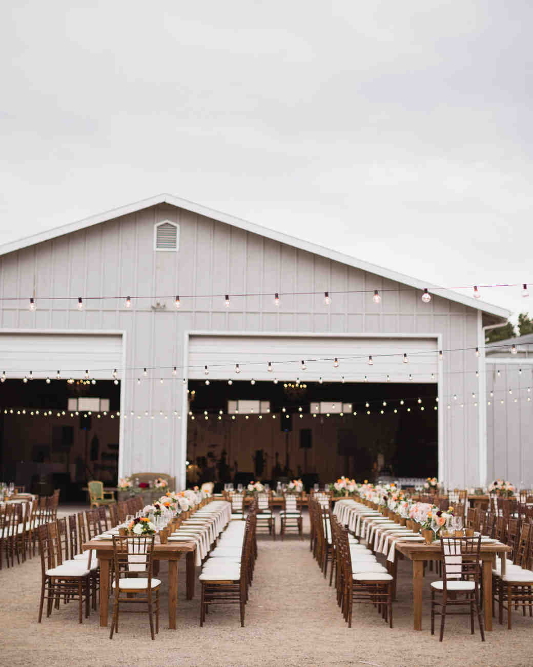 california ranch reception setup