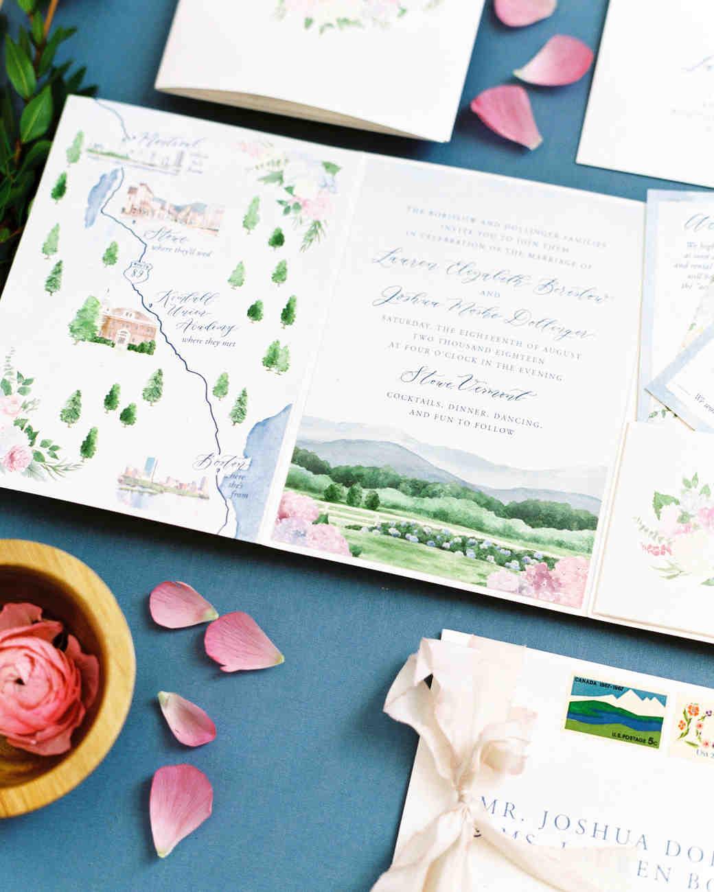 lauren josh wedding invitations