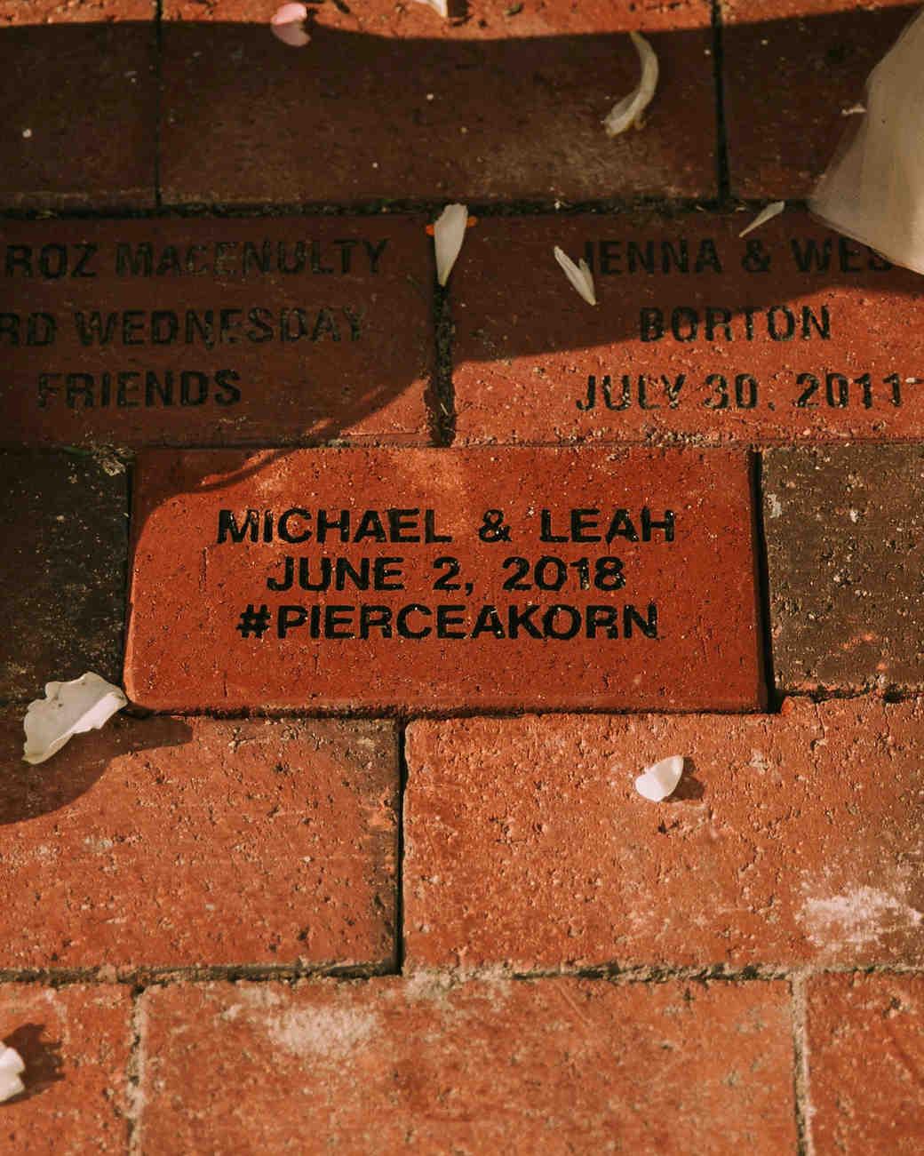 leah michael wedding brick