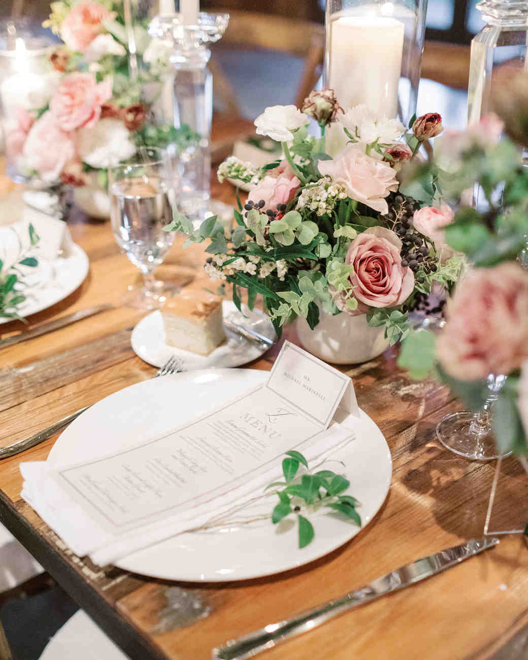 white-on-white reception placesettings