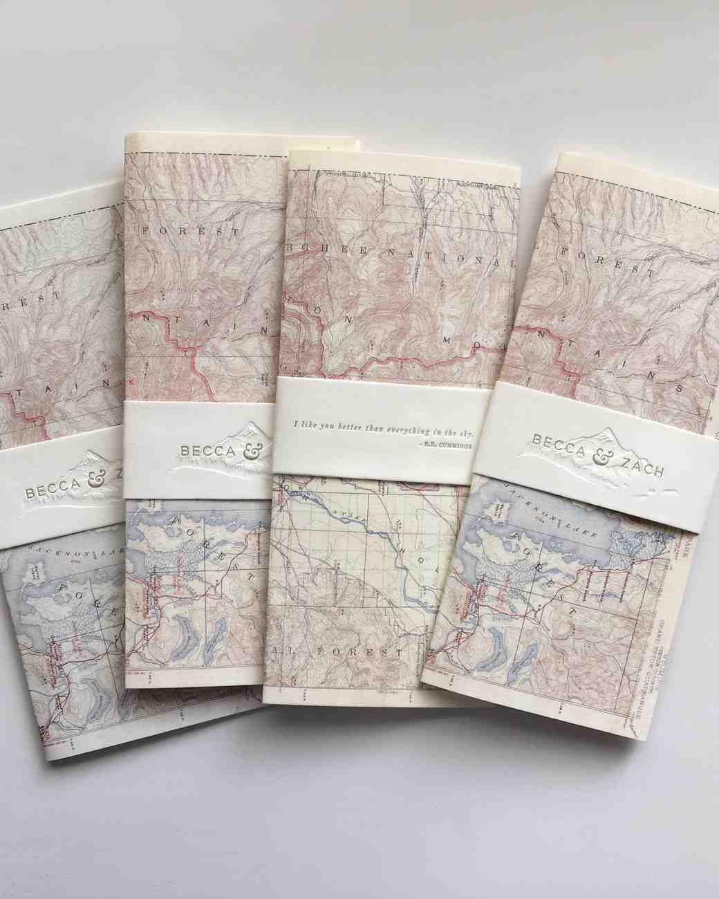 map wedding programs