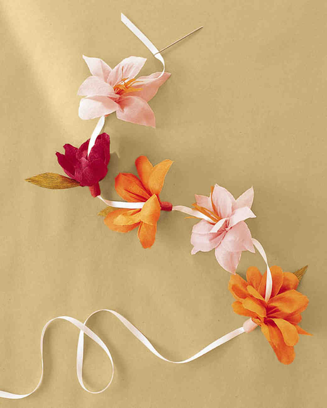 How to Make Crepe-Paper Flowers | Martha Stewart Weddings
