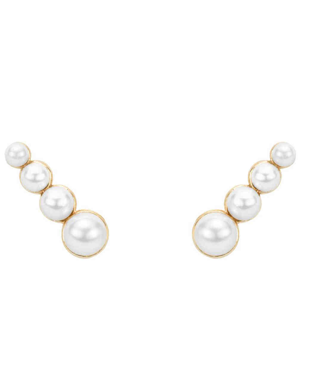 pearl wedding earrings hortense 4 pearls