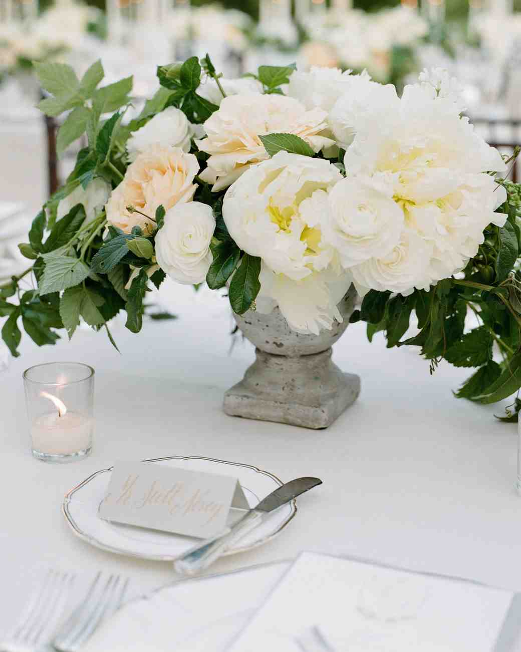 The Prettiest Peony Wedding Centerpieces | Martha Stewart Weddings
