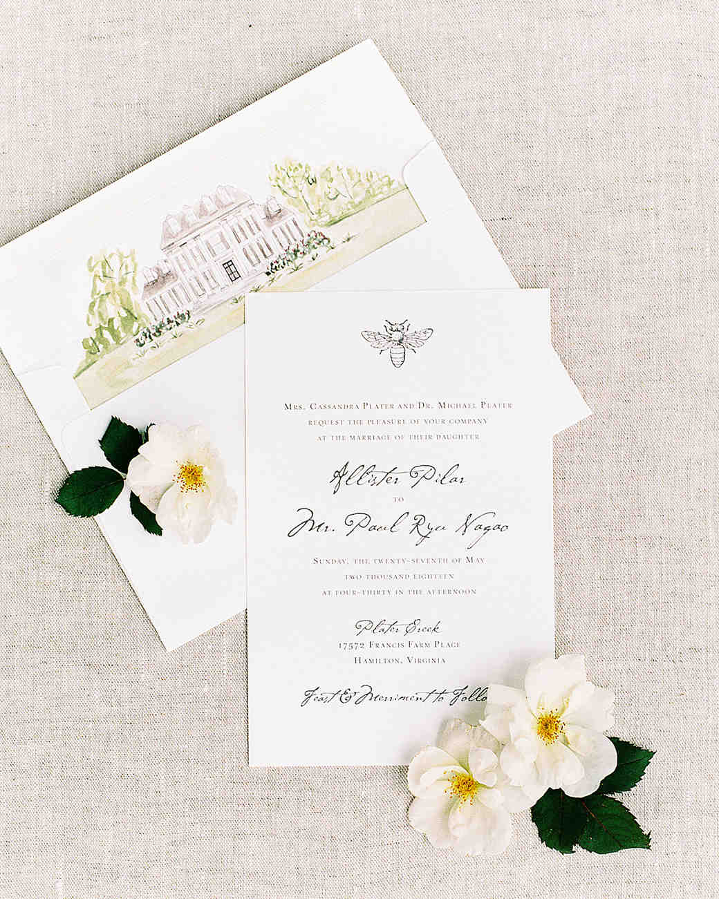 pillar paul wedding invitations