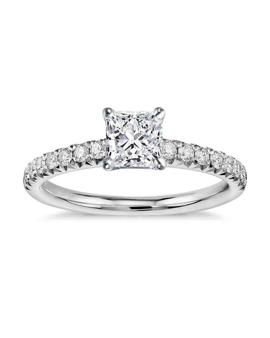 princess cut ring silver blue nile