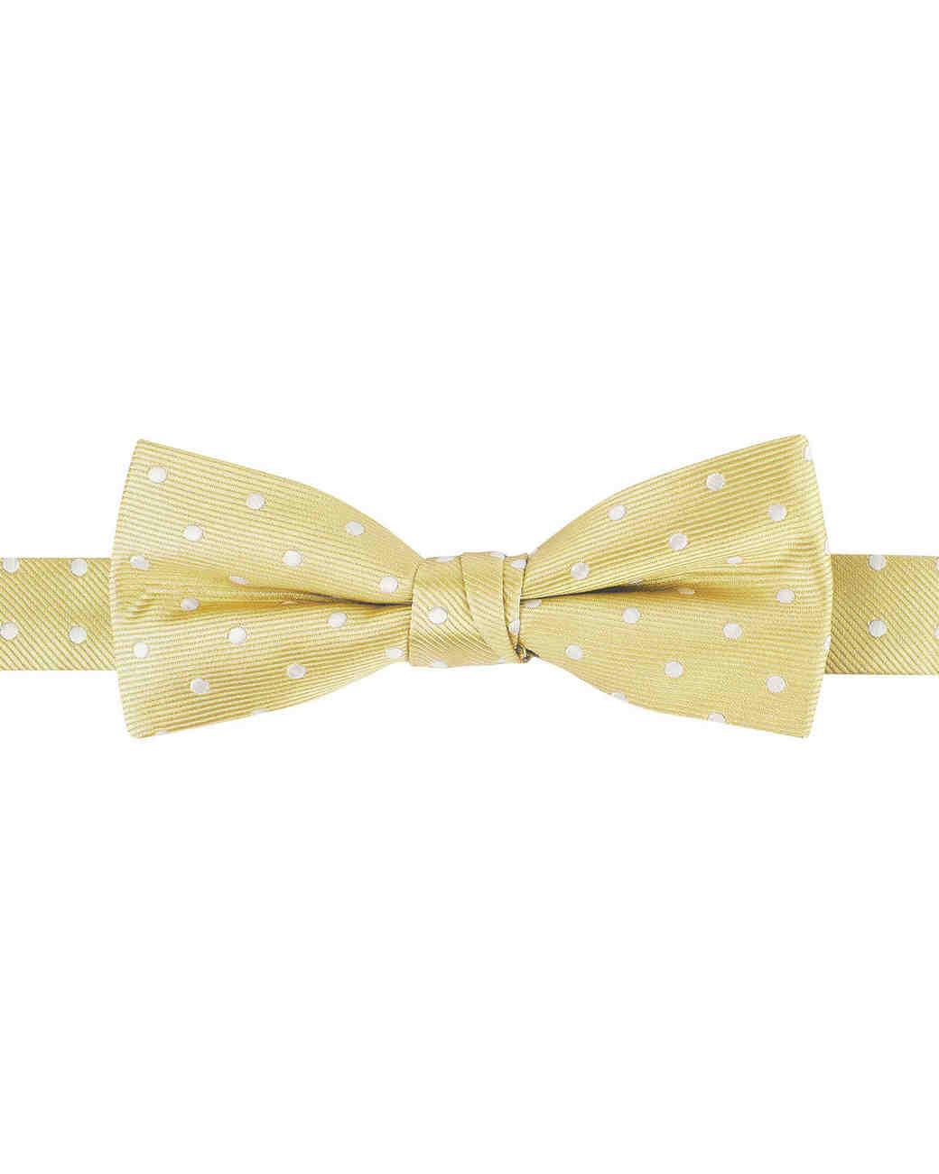 yellow polka dot bowtie