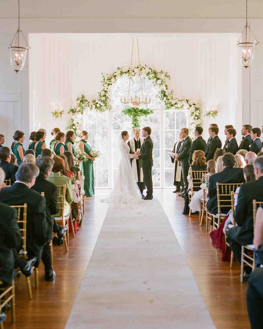 A Christmas-Themed Wedding in South Carolina | Martha Stewart Weddings
