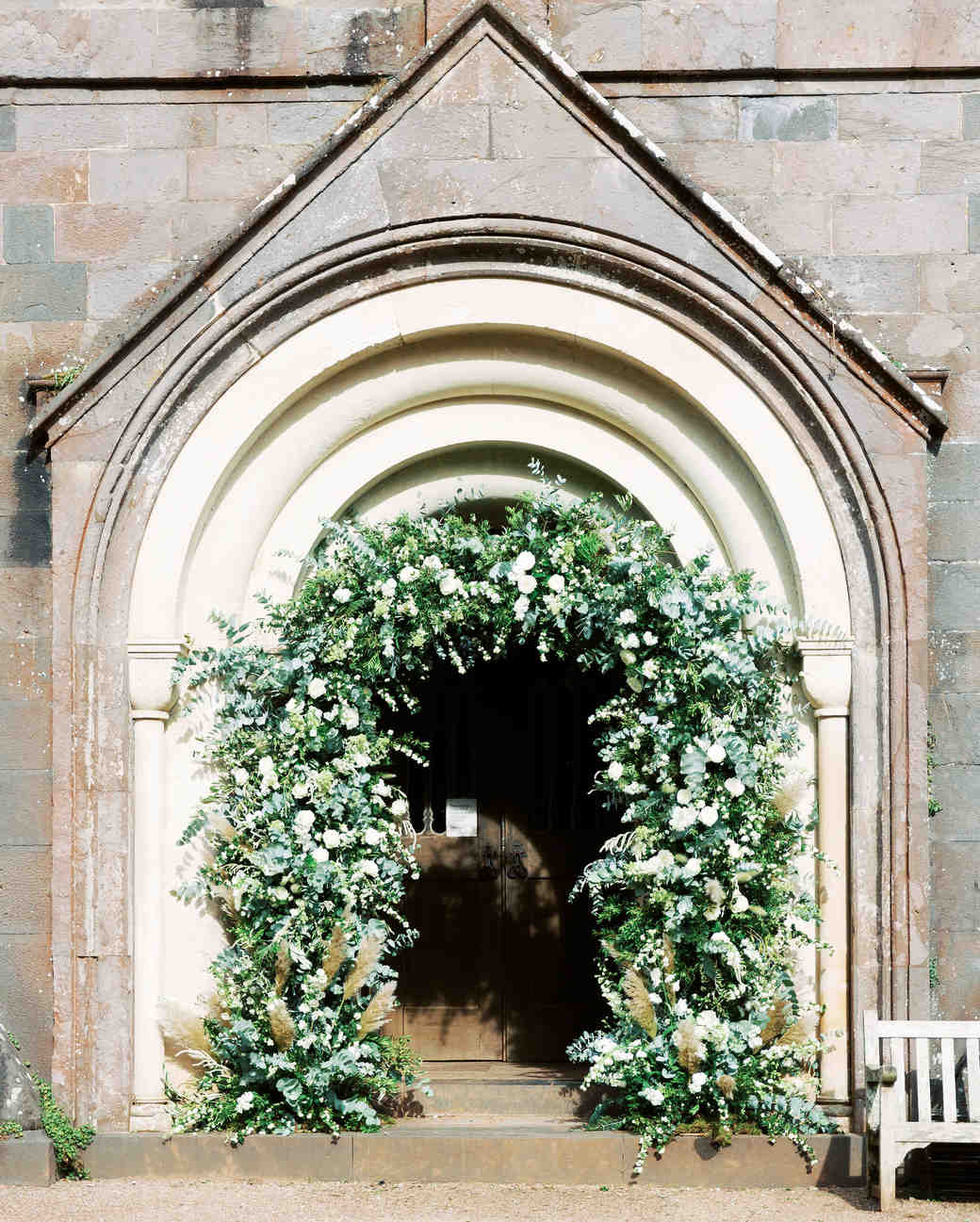 sophie christopher wedding greenery arch