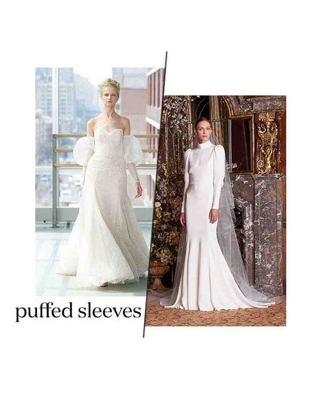 Spring 2019 Bridal Fashion Week Puffed Sleeves Trend