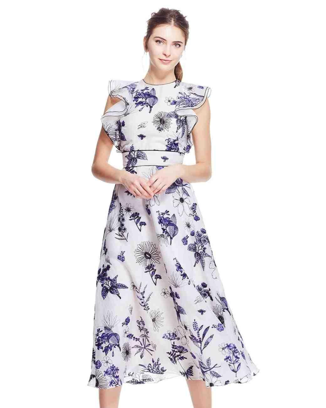 Summer Mother of the Bride Dresses, Blue and White Lela Rose Dress