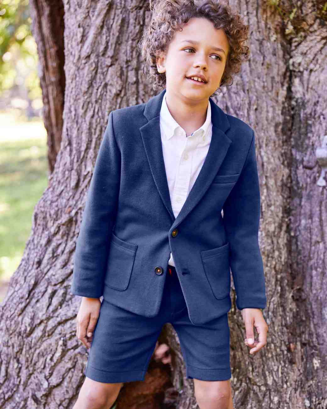 Summer Ring Bearer Attire, Boden Jersey Suit