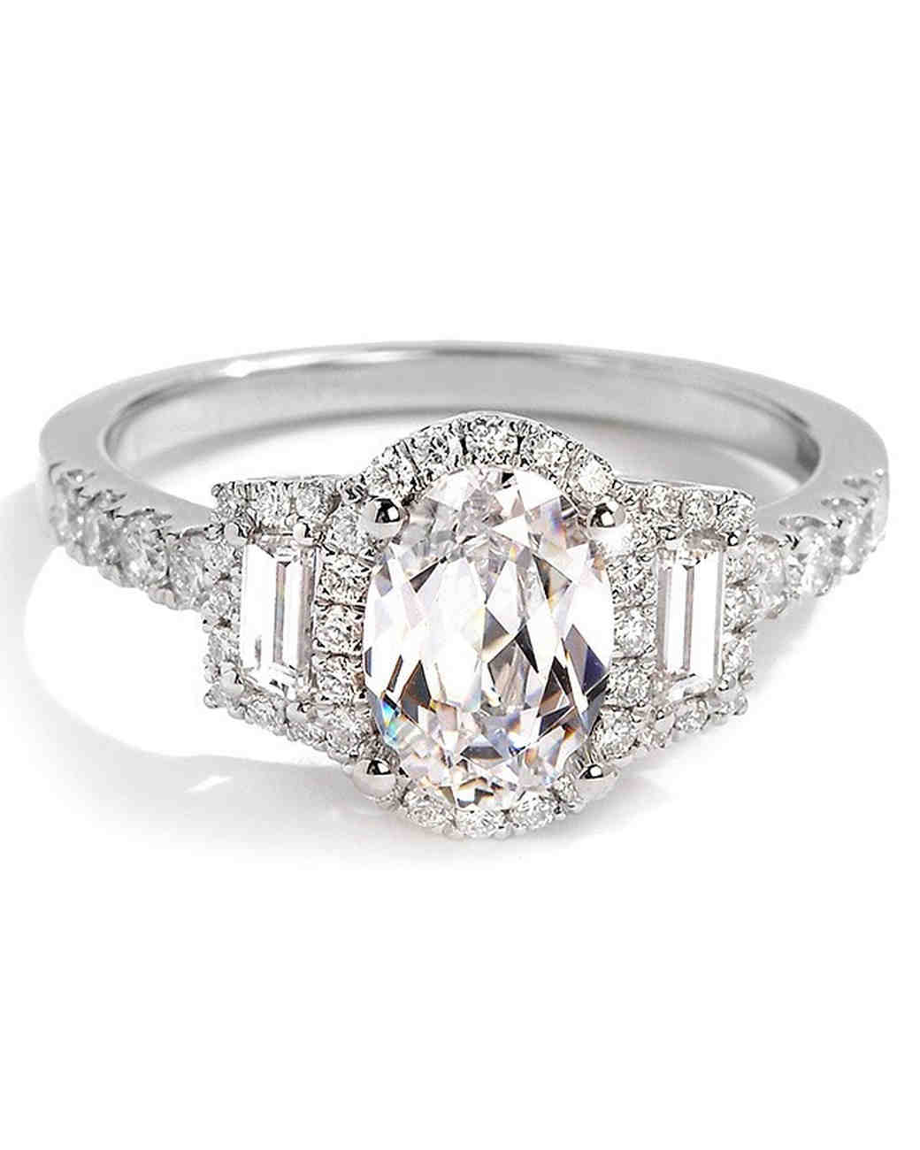 Sylvie Collection Oval Engagement Ring