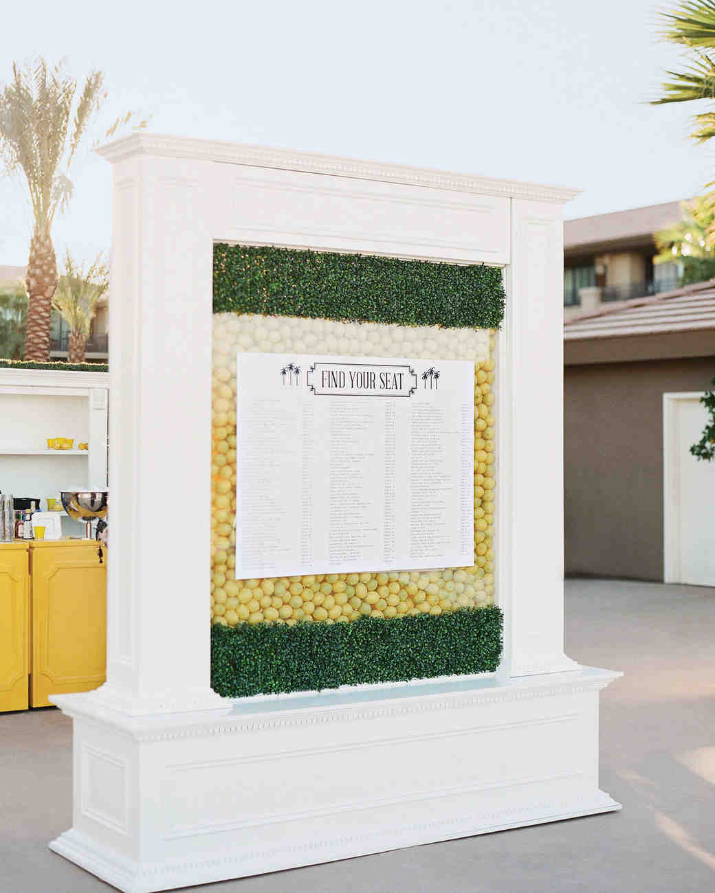 Lemon Seating Chart Stand