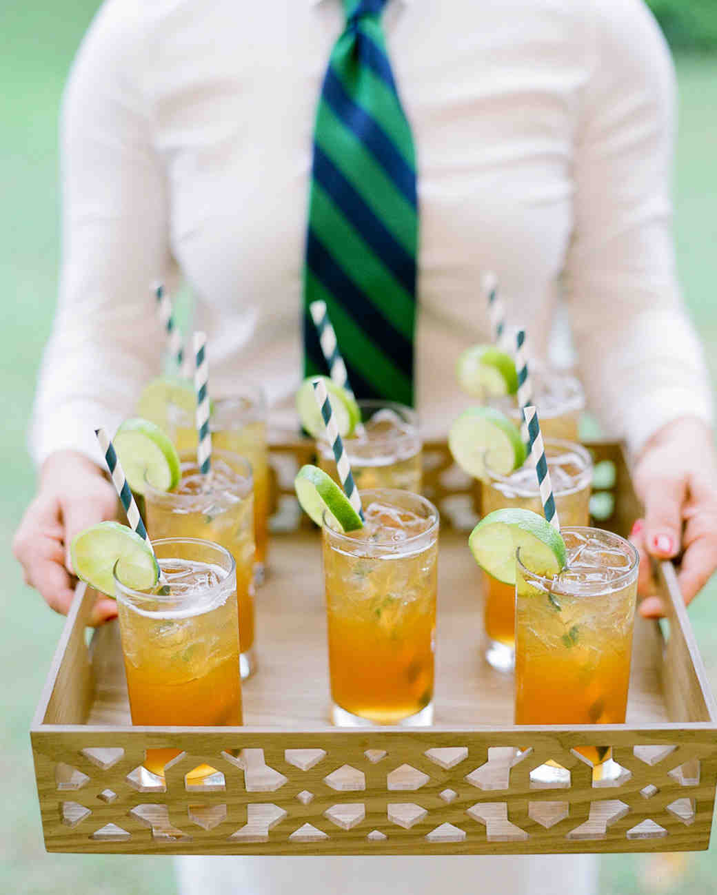 iced tea on tray
