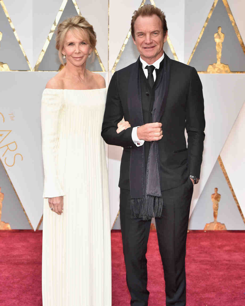 Trudie Styler and Sting at 2017 Academy Awards