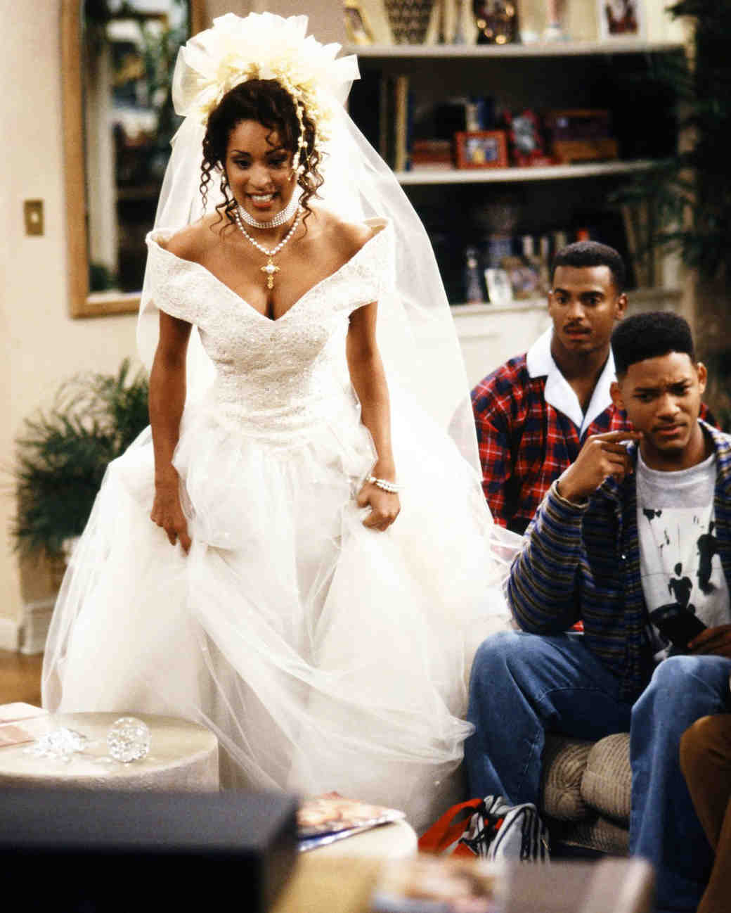 tv wedding dresses fresh prince of bel air