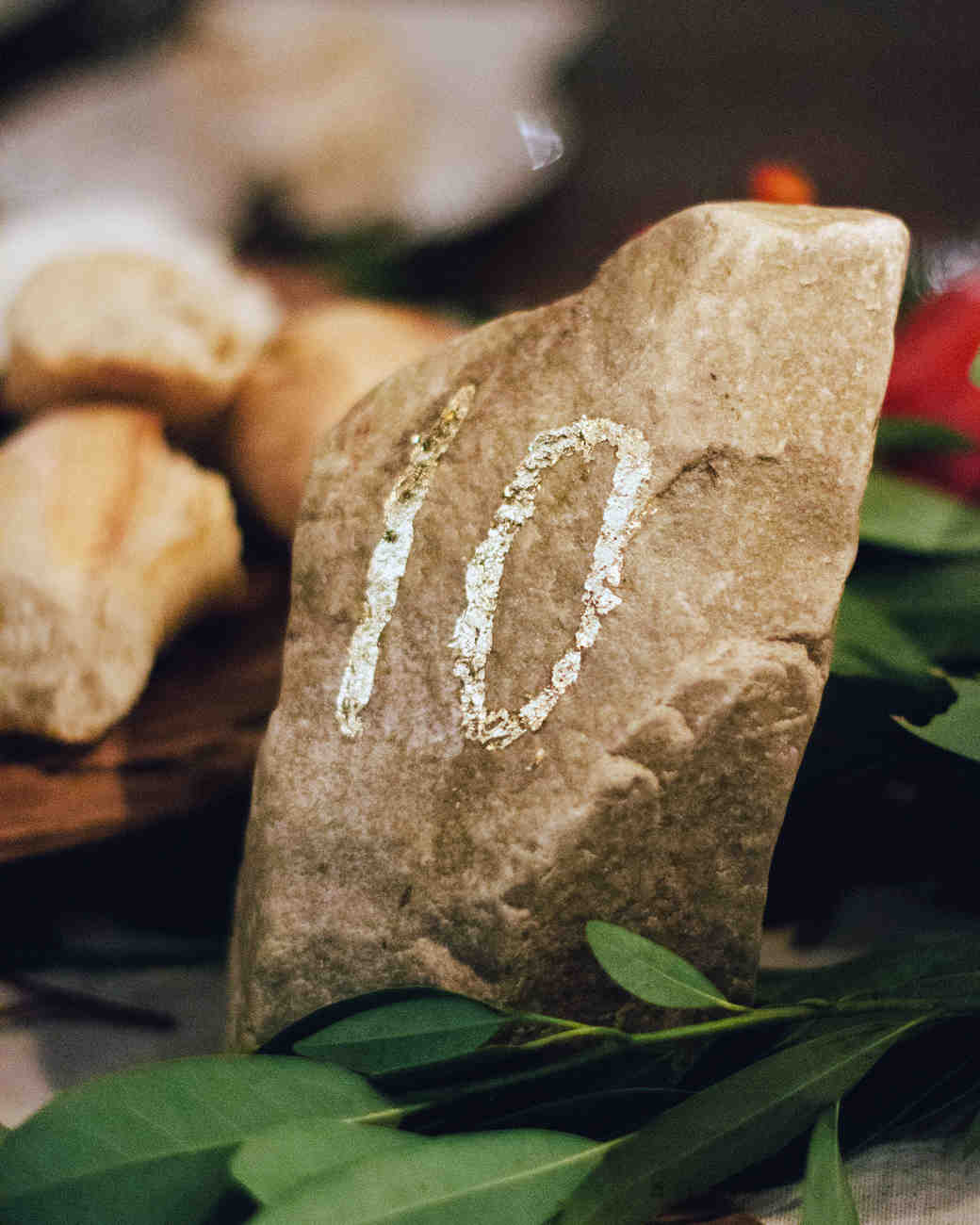 rock wedding table number
