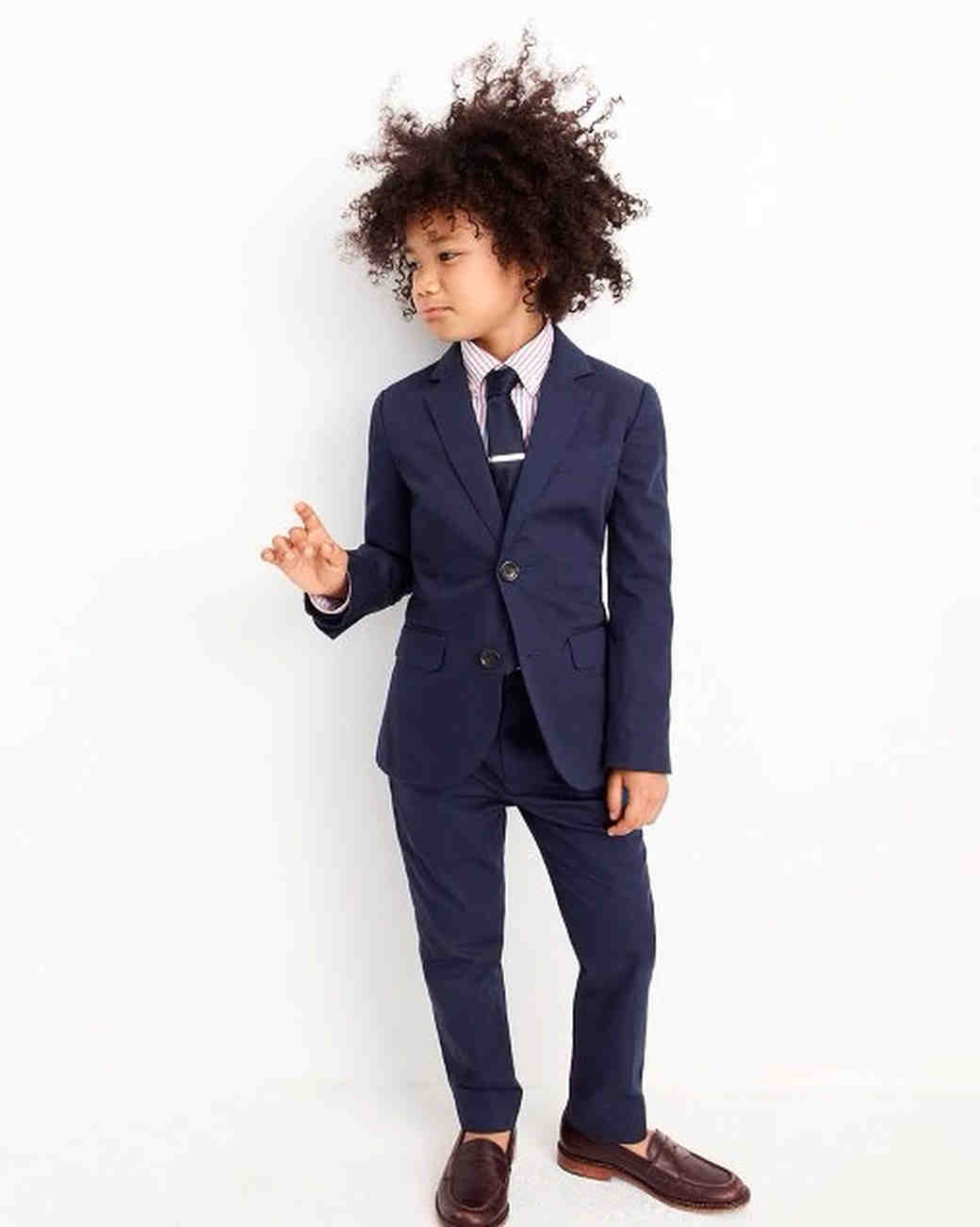 blue ring bearer suit