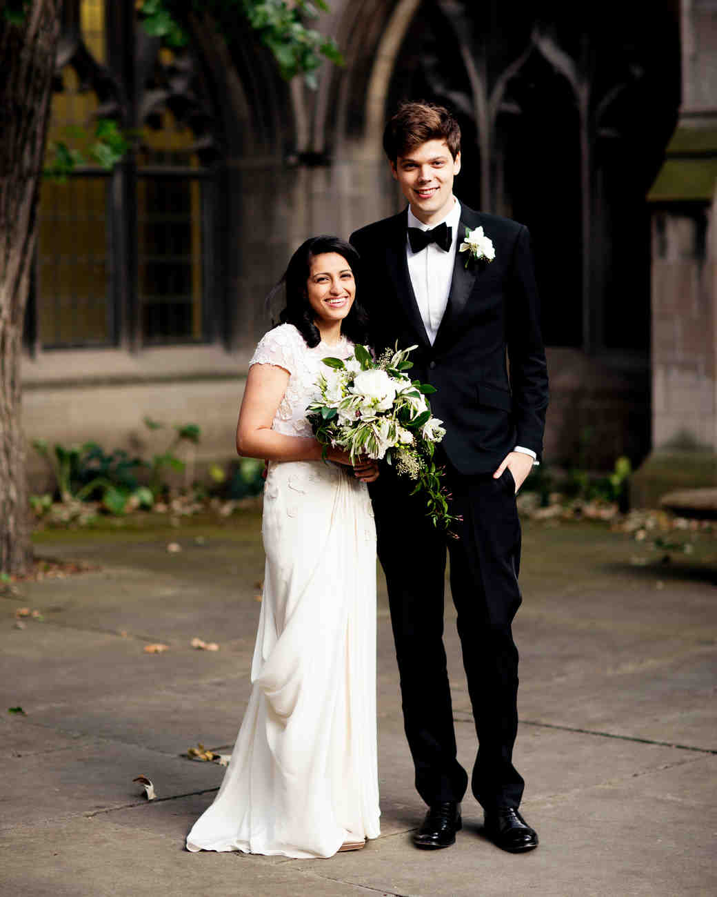 A classic black tie wedding in chicago martha stewart weddings aiasha and charles junglespirit Image collections